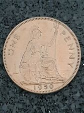 More details for british 1951 rare penny almost unc lustrous english george vi 1d coin