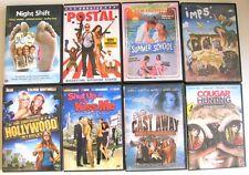 Lot of 8 DVDs: Night Shift, Postal, Summer School, Cougar Hunting, Imps, Summer