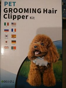New!! Pet Grooming Hair Clipper Kit, Comb Clippers Scissors