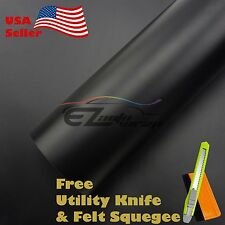 "*12"" x 60"" MATTE FLAT BLACK Vinyl Wrap Sticker Decal Film Sheet with Air Release"