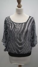 Jane Norman   Grey sheer Blouse size 12