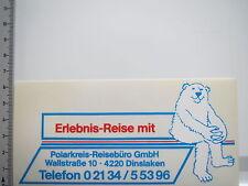 Aufkleber Sticker Polarkreis Reisebüro - Erlebnis Reise - Dinslaken (6498)