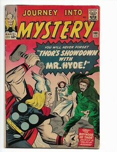 JOURNEY INTO MYSTERY 100 - VG/F 5.0 - THOR - JANE FOSTER - MR. HYDE (1964)