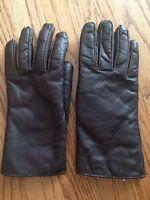Women's Vintage Brown Leather Glove Fleece Lined