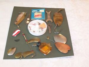 Vintage Mixed Lot of Fishing collectables/ Display Board