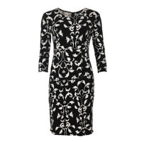 WEEKEND MAX MARA Dress Black & White Floral RRP £145 BG