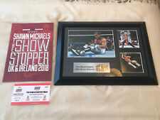 More details for wwe wwf hbk shawn michaels wrestlemania signed plaque - uk event