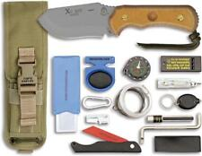 TOPS XCEST Emergency Support Alpha Fixed Blade Tan Knife + Survival Kit XCESTACT