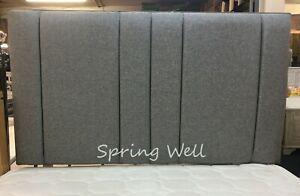 Light Grey Upholstered Chenille Fabric Tulip Headboard Black 26''/30''/36''/44'