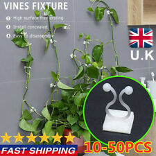 10-50Pc Invisible Plant Climbing Wall Clip Sticky Hook Vines Fixing Clip UK LOT