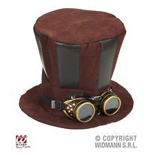 Steampunk Hut mit Schwei�Ÿerbrille Erwachsene Zylinderhut für Fasching Karneval