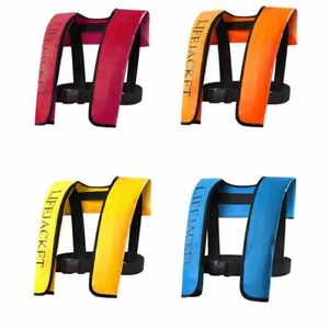 Adult Manual/ Automatic Inflatable Life Jacket Inflation Survival Vest SKY