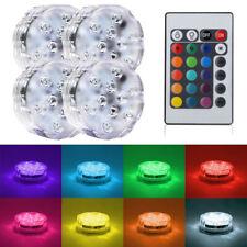 LED RGB Sumergible Piscina Luz Control Remoto Estanque Acuarios Decoración Luz