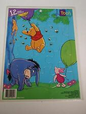 Disney Winnie the Pooh Frame Tray Jigsaw Puzzle Parker Brothers Eeyore Piglet