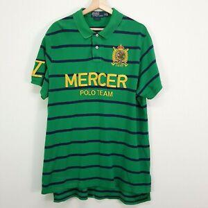 POLO RALPH LAUREN Mens Size XXL Striped Custom Fit Mercer Polo Team Shirt
