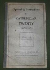 CAT CATERPILLAR TWENTY CRAWLER TRACTOR DOZER OPERATION & MAINTENANCE MANUAL