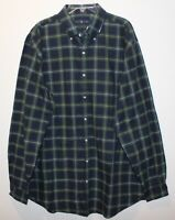 Polo Ralph Lauren Big and Tall Mens Blue Green Plaid Button-Front Shirt NWT 4XB