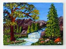 "ACEO Art Card Miniature Painting: ""Mountain Stream"" by Judith Rowe"