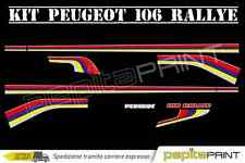 Kit adesivi tuning peugeot 106 sport rallye PLASTIFICATI rally stickers car