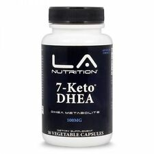 LA Nutrition 7-Keto DHEA 100mg 30 Capsules Metabolism Booster Weight Loss Energy