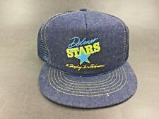 Vintage ~ DELMAR STARS ~ A DAZZLING TEAM PERFORMANCE Denim Trucker Hat Cap