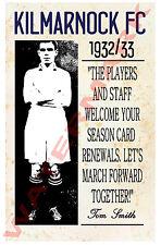 Kilmarnock - Vintage Football Poster POSTCARDS - Choose from list