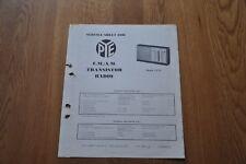 Pye 1375 FM AM Transistor Radios Genuine Service Sheet Manual
