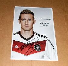 Miroslav Klose *DFB, Lazio Rom* original signed AK/Card 10x15 cm