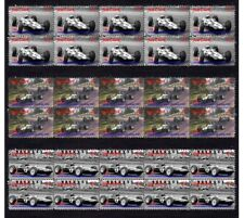 JIM CLARK 1965 LOTUS F1 W/CHAMP SET OF 3 MINT VIGNETTE STAMPS