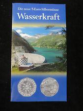 ÖSTERREICH 5 EURO 2003 Silber Wasserkraft