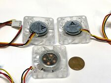 3 Pieces Blue LED mini 12V 4020 40x40x20mm DC Cooling Fan micro brushless A15
