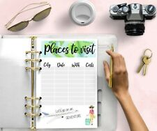 Planificador de viaje Imprimible Recarga Agenda Filofax Insertos de descarga digital Kikki