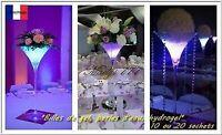 Perle d'eau Bille de gel fleuriste décoration vase mariage salle 10/20 sachets