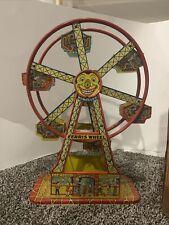 Vintage J Chein Hercules Mechanical Ferris Wheel Tin Tony No 172 w/Box WORKS