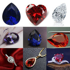 Sapphire/Zirconia/Amethyst/Ruby - Pear/Heart/Oval Cut Loose Gemstone DIY Jewelry