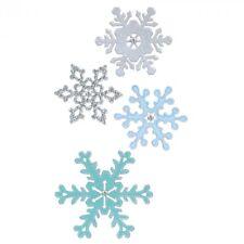 4 SIZZIX Thinlits Stanzschablone WEIHNACHTEN Schnee Kristalle SNOWFLAKES 661541