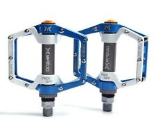 MPEDA Mountain Road XC Bike bearing Pedals flat Bicycle Pedal Blue white 1 Pair