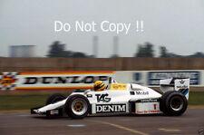 Ayrton Senna Williams FW08C Donington Park Test 1983 Photograph 1