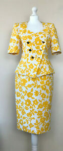 GUY LAROCHE Jacket & Skirt Suit Circa 1980's Vintage Summer Set Womens UK 12