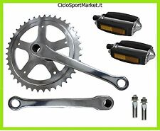 GUARNITURA a chiavella  + PEDALI + 2 CHIAVELLE bici Classico City Bike Graziella