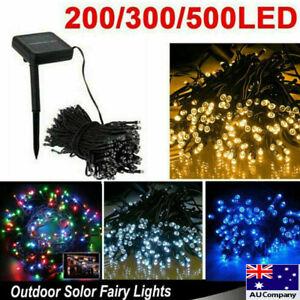 Waterproof String Fairy Lights 100-500 LED Solar Power Outdoor Garden Xmas Decor