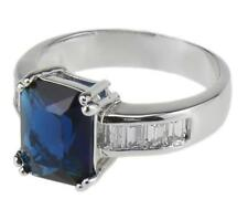 Sapphire Ring 18K GF Modern Style Jewelry Christmas Gifts for Women 9# di