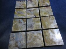 DINOSAUR COPROLITE ACCENT TILE  2 X 2 INCHES! - LIMITED PRODUCTION - CUSTOM CUT