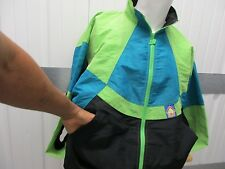 VINTAGE NEW BALANCE ZIP-UP GREEN/BLUE WINDBREAKER LARGE JACKET 90s FITNESS SYSTE