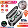 Bluetooth 5.0 Headset TWS Wireless Earphones Mini Stereo Headphones LED Earbuds