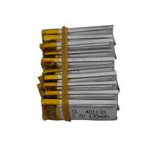 10 pcs 3.7V 130 mah Polymer  Li Battery lipo 401130 For Sat Nav driving recorder