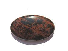 Mahagoni Obsidian-Obsidiane Cabochon 45,4x26,4 mm 55 ct. U14037
