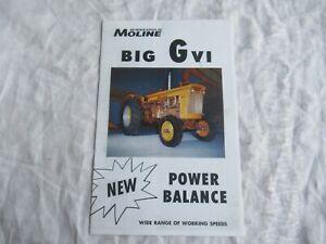 Minneapolis Moline GVI tractor brochure -RE-PRINT