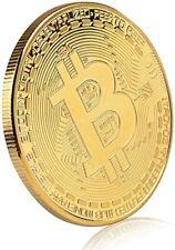 Gold Plated Collectable Bitcoin coin - medal , 1 ounce coin