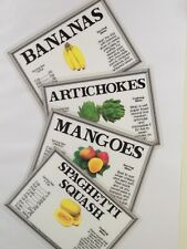 """Set of 300 supermarket produce signs. 300 produce signs 4"""" x '6"""